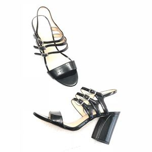 NEW Nine West Faux Patent Leather Strappy Heels